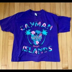 Purple Retro Cayman Islands T Shirt -Sz OSFM